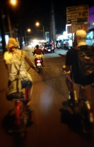 Backpackers use any and every means of transportation.